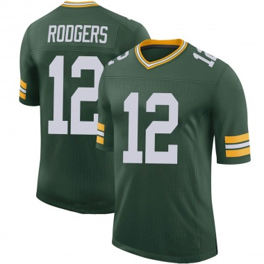 Men's Nike Green Bay Packers Aaron Rodgers 100th Vapor Jersey - Green Limited