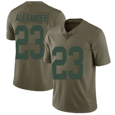 Men's Nike Green Bay Packers Jaire Alexander 2017 Salute to Service Jersey - Green Limited