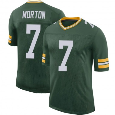 Men's Nike Green Bay Packers Jalen Morton 100th Vapor Jersey - Green Limited