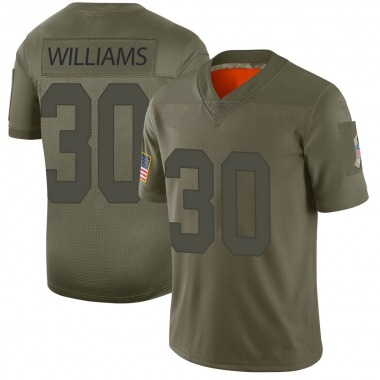 Men's Nike Green Bay Packers Jamaal Williams 2019 Salute to Service Jersey - Camo Limited