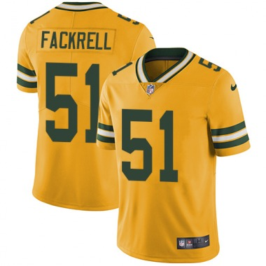 Men's Nike Green Bay Packers Kyler Fackrell Color Rush Jersey - Gold Limited