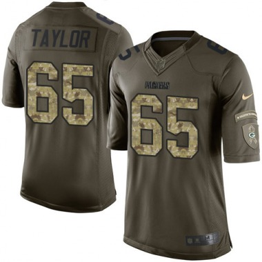 Men's Nike Green Bay Packers Lane Taylor Salute to Service Jersey - Green Limited