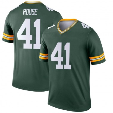 Men's Nike Green Bay Packers Nydair Rouse Jersey - Green Legend