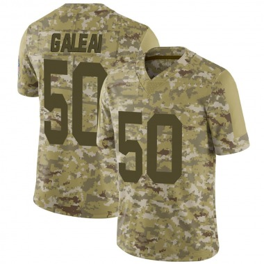 Men's Nike Green Bay Packers Tipa Galeai 2018 Salute to Service Jersey - Camo Limited