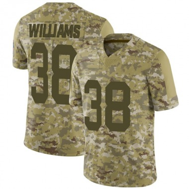 Men's Nike Green Bay Packers Tramon Williams 2018 Salute to Service Jersey - Camo Limited