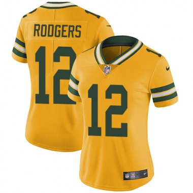 Women's Nike Green Bay Packers Aaron Rodgers Color Rush Jersey - Gold Limited