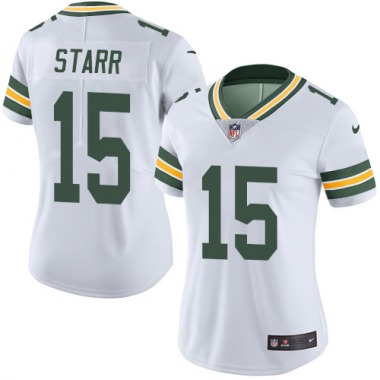 Women's Nike Green Bay Packers Bart Starr Jersey - White Limited