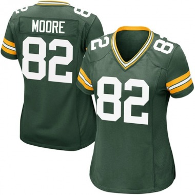 Women's Nike Green Bay Packers J'Mon Moore Team Color Jersey - Green Game
