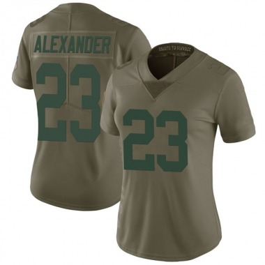 Women's Nike Green Bay Packers Jaire Alexander 2017 Salute to Service Jersey - Green Limited