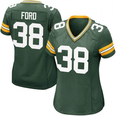 Women's Nike Green Bay Packers Keith Ford Team Color Jersey - Green Game