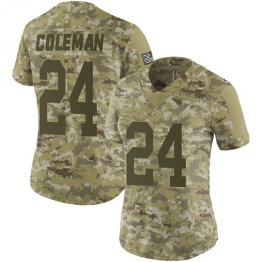Women's Nike Green Bay Packers Lavon Coleman 2018 Salute to Service Jersey - Camo Limited