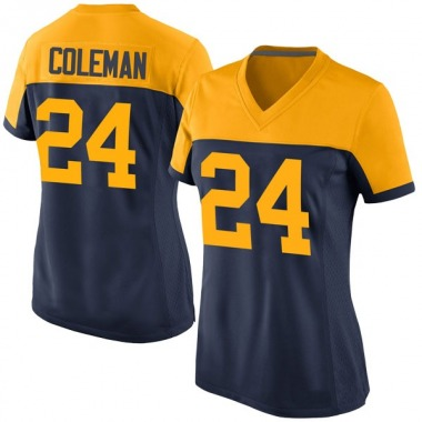 Women's Nike Green Bay Packers Lavon Coleman Alternate Jersey - Navy Game