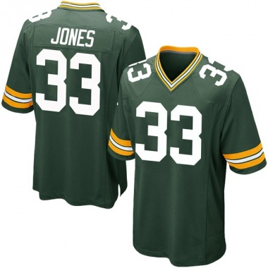 Youth Nike Green Bay Packers Aaron Jones Team Color Jersey - Green Game