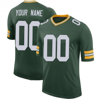 Youth Nike Green Bay Packers Custom 100th Vapor Jersey - Green Limited