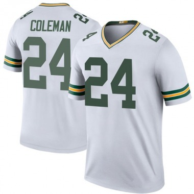 Youth Nike Green Bay Packers Lavon Coleman Color Rush Jersey - White Legend