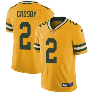 Youth Nike Green Bay Packers Mason Crosby Color Rush Jersey - Gold Limited